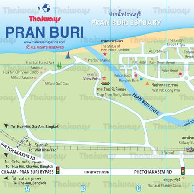 Pranburi Map