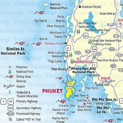 Phang Nga Map