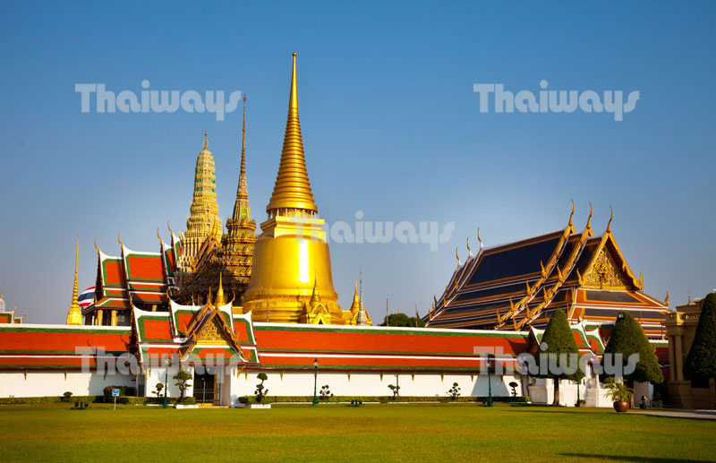 The Emerald Buddha Temple or Wat Phra Kaew