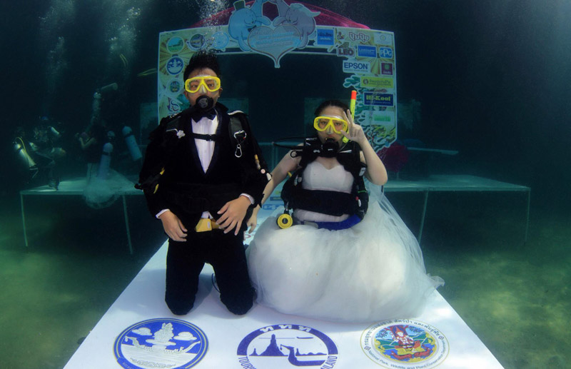 Trang Underwater Wedding Ceremony
