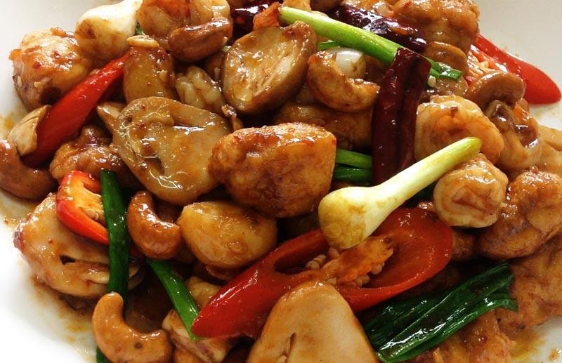 Mu or Kai Sa-te (Roast Pork or Chicken Coated with Turmeric)